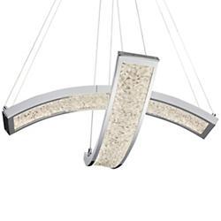 Crushed Ice LED 2-Light Pendant