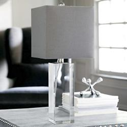 Crystal Block Lamp (Clear) - OPEN BOX RETURN