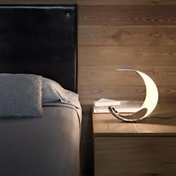 Curl Table Lamp (Mirror/White) - OPEN BOX RETURN