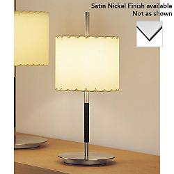 Danona Table Lamp (Cotton/Satin Nickel/Small) - OPEN BOX