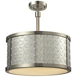 Diamond Plate Drum Pendant