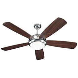 Discus Ceiling Fan (Nickel/Walnut/Opal) - OPEN BOX RETURN