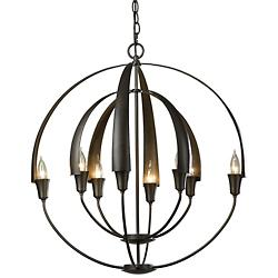 Double Cirque Chandelier (Dark Smoke/Medium) - OPEN BOX