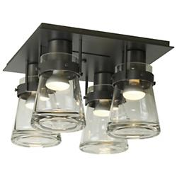 Erlenmeyer 4 Light Flushmount (Dark Smoke) - OPEN BOX RETURN
