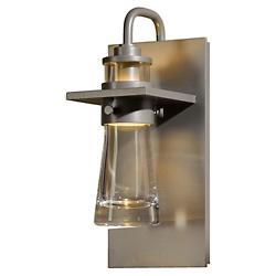 Erlenmeyer Outdoor Wall Sconce (Clear/Steel/Large) - OPEN BOX