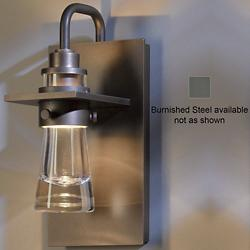 Erlenmeyer Outdoor Wall Sconce (Clear/Steel/Small) - OPEN BOX