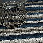 Even Stripe Shag In/Outdoor Mat (Marine/Utility) - OPEN BOX