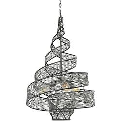 Flow 3-Light Twisted Pendant