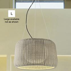 Fora Indoor/Outdoor Pendant (Natural White/Large) - OPEN BOX
