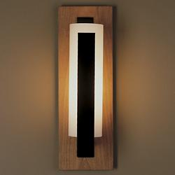 Forged Vertical Bars Wall Light (Iron/Opal/Cherry) - OPEN BOX