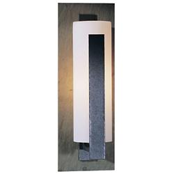 Forged Vertical Bars Wall Sconce (Iron/Opal/Med) - OPEN BOX