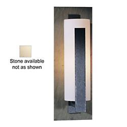 Forged Vertical Bars Wall Sconce (Iron/Stone/Med) - OPEN BOX