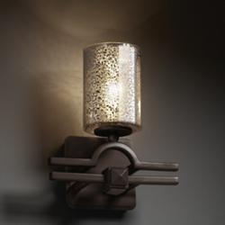 Fusion Mercury Glass Argyle Cylinder Wall Sconce