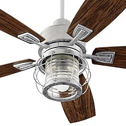 Galveston 52 Inch Patio Ceiling Fan (Galvanized) - OPEN BOX