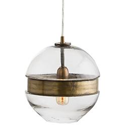 Garrison Round Pendant (Clear/Brass) - OPEN BOX RETURN