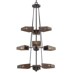 Gold Rush Three-Tier Foyer Chandelier