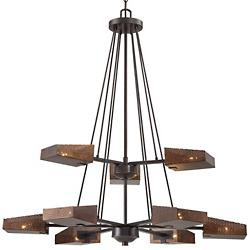 Gold Rush Two-Tier Chandelier
