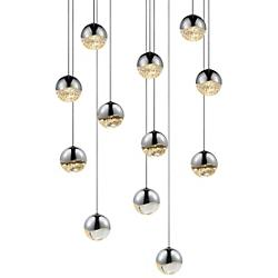 Grapes LED 12-Light Round Multipoint Pendant