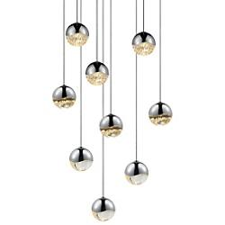 Grapes LED 9-Light Round Multipoint Pendant