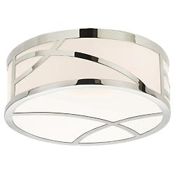 Haiku LED Round Flushmount (Satin Nickel/Large) - OPEN BOX