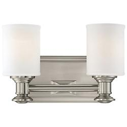 Harbour Point Bath Bar (Nickel/2 Lights) - OPEN BOX RETURN