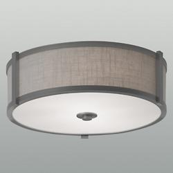 Hatbox Round Fabric Flushmount