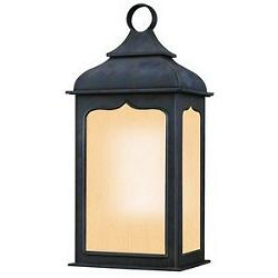 Henry Street Outdoor Flush Wall Sconce w/ Frosted Seeded