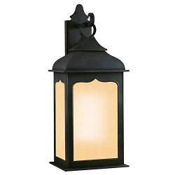 Henry Street Outdoor Wall Sconce w/ Frosted Seeded Glass