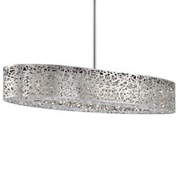 Hidden Gems LED Oval Pendant (Chrome) - OPEN BOX RETURN