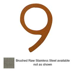 House Numbers (Raw Stainless Steel/Nine/8 Inch) - OPEN BOX