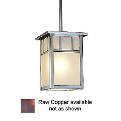 Huntington Outdoor Pendant (Raw Copper/Frosted) - OPEN BOX