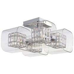 Jewel Box Semi-Flushmount (Clear/Chrome) - OPEN BOX RETURN