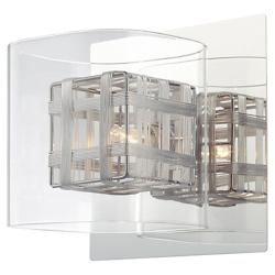 Jewel Box Wall Sconce (Clear/Chrome) - OPEN BOX RETURN