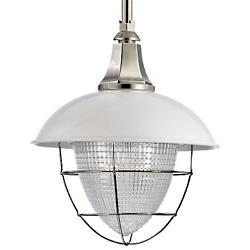 Keene Pendant (White Polished Nickel/Large) - OPEN BOX