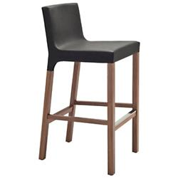 Knicker Barstool (Black Leather) - OPEN BOX RETURN