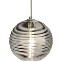 Kristall 8 Pendant (Smoke/Nickel/Flat w/ Stem) - OPEN BOX