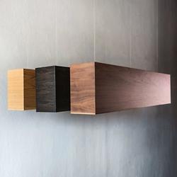 Light Three Linear LED Wood Pendant