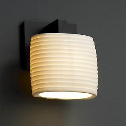 Limoges Downlight Wall Sconce (Sawtooth/Black) - OPEN BOX