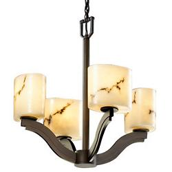 LumenAria Bend Bowl Chandelier