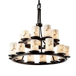 LumenAria Dakota 2-Tier Chandelier