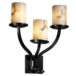 LumenAria Sonoma Cylinder 3 Light Wall Sconce