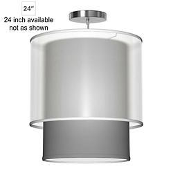 Lumiere Pendant (Silk Gunmetal/24 inch) - OPEN BOX RETURN