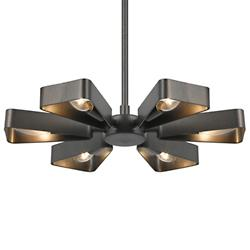 Luna 6 Light Chandelier (Raw Steel/Small) - OPEN BOX RETURN