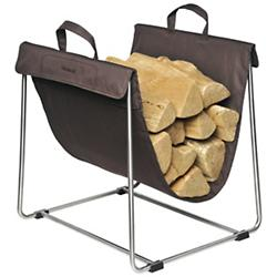 MADRA Log Basket (Brown/Stainless Steel) - OPEN BOX RETURN