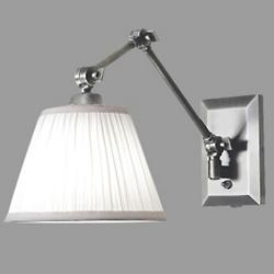 Maggie Swingarm Wall Sconce with Fabric Shade