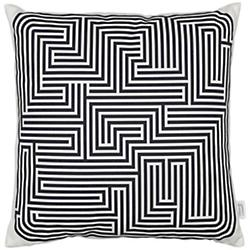 Maze Graphic Pillow (Black) - OPEN BOX RETURN