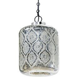 Mercury Glass Jaipur Pendant (Silver) - OPEN BOX RETURN