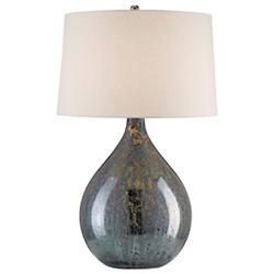 Merseyside Table Lamp (Bone Linen/Blue Mercury) - OPEN BOX