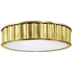 Middlebury Round Flushmount (Aged Brass/Large) - OPEN BOX