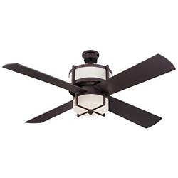 Midoro Ceiling Fan (Oiled Bronze/White) - OPEN BOX RETURN